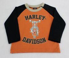 Harley-Davidson Infant Long Sleeve Orange and Black Shirt 12 Months