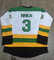 Retro Ross The Boss Rhea ST John's Hockey Jerseys GOON Movie Shamrocks Jerseys