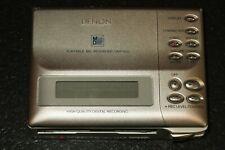 FOR PARTS Denon DMP-R50 MiniDisc Recorder / Player Portable MD SILVER