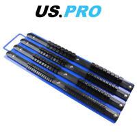 """US PRO Tools Socket Rail Tray Holds 86 Sockets, 1/4"""" 3/8"""" 1/2"""" Drive Clips 6741"""