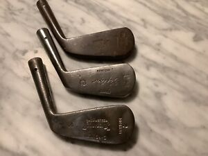 lot antique hickory golf  mid iron heads
