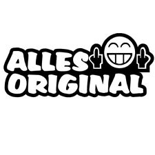 Aufkleber Alles Original Fun Tuning - 10 cm - Farbe wählbar