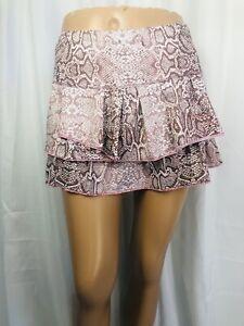 Lucky in Love size small pink snakeskin print skort skirt
