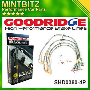 Honda Civic Type-R EP3 2001-2005 Zinc Plated Goodridge Brake Hoses SHD0380-4P