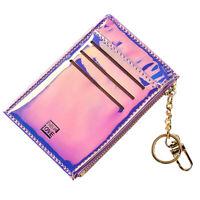 Portafoglio Pelle Mini Con Tasca Frontale Accessorio Viaggio Per Carte