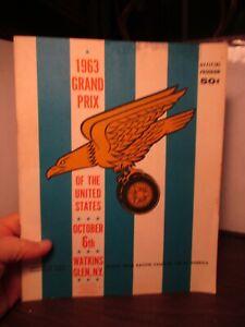 Vintage 1963 Watkins Glen NY GRAND PRIX of the United States Official Program