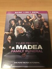 TYLER PERRY'S A MADEA FAMILY FUNERAL BLU RAY+DVD+DIGITAL INCLUDES SLIPCOVER