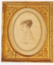 19th Century Drawing on paper Magnificant antique frame