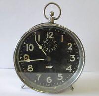 ANTIQUE 1913 PAT INGRAHAM XRAY PEG LEG ALARM CLOCK  WORKING