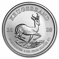 2020 South Africa Silver Krugerrand 1 oz 1 Rand - BU African From Original Roll