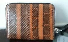 BNWT ALLSAINTS ORANGE KANDA SNAKE MINI PURSE RRP £78 IDEAL GIFT