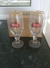 Stella Artois Half Pint Chalice Glas$es x2 New ce Stamped Free P&P