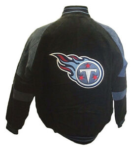Tennessee Titans Men's M L 2XL Suede Leather Full Zip Winter Jacket NFL
