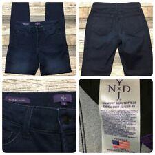 NYDJ Alina Legging Jeans Women's 6 (W28 L30) Dark Wash Blue USA