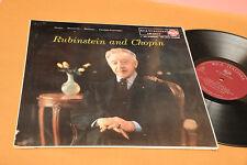 RUBINSTEIN AND CHOPIN LP BARCAROLA FANTASIE.....ORIG ITALY '60 EX TOP CLASSICA