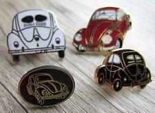 4 x Volkswagen Pin / Pins: 4 x  VW Käfer - emailliert - Edel !!! Set E