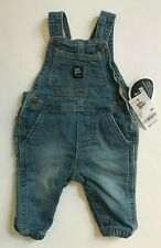 OSHKOSH Baby Bib Overalls BLUE Vestbak Knit Denim Size 3...