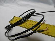 fil câble électrique souple 2 x 0,3 mm2 (lot de 4 m), NOIR,  led, multibrins