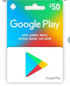 Google Play 50 USD Gift Card -Serious Bidders Only pls