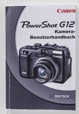 Bedienungsanleitung Power Shot G12 Kamera- Benutzerhandbuch