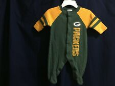 Baby NFL Football Packers PJs Size 0-3 Months