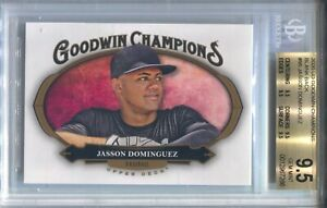 JASSON DOMINGUEZ BGS 9.5 2020 UD GOODWIN CHAMPIONS #95 ROOKIE BLANK BACK RC 7266