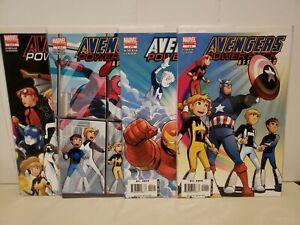 Avengers & Power Pack Assemble! Set #1-4 Gurihiru Spider-Man Spider-Woman MCU