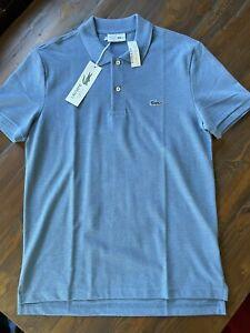 NWT J. Crew x Lacoste Polo Shirt Blue Sz L Large Slim Fit Size 5