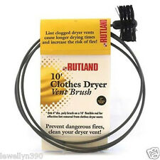 "Rutland Pellet Stove Vent Brush 4"" Dia. 10' Rod Cleaner"