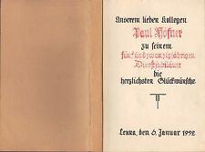 LEUNA Zeitung für das 25-jährige Dienstjubiläum P. Höfner in Leuna 1952 Ansichts