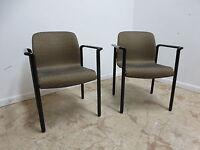 Vintage Mid Century Herman Miller Wave Arm Lounge Chairs