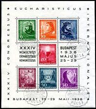 UNGARN 1938 BLOCK3 gestempelt SCHÖN 60€(A9509b