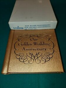 VTG Golden Wedding Anniversary Photo Album 1950's 60's Never Used FREE SHIPPING