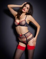 Agent Provocateur Winnie bra navy red sheer 36A