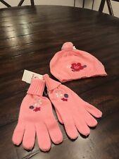 Disney Princess Hat & Gloves Set - Toddler Girls Pink Winter Nwt - Brand New