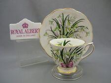 Flower Month SNOWDROP 1 Royal Albert Bone China Tea Cup & Saucer HAND PAINTED