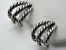 A032 Chic Unique Classic Designer Style silver cable Omega Latch Fashion Earring