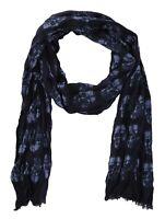 John Varvatos Star USA Men's Rows of Skulls Merino Wool Fashion Scarf Blue