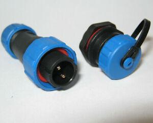 SP17 Panel Mount IP68 Waterproof Plug & Socket Circular Connector 2,3,4,5,7,9pin