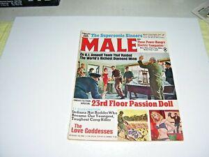 MALE Magazine, June 1967, Pulp, Sex, Terror, Adventure, Vietnam War, Crime