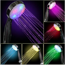 7 Farben Farbwechsel Brause LED Handbrause Duschkopf Duschbrause Brausekopf