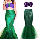 MERMAID Costume Womens Ariel Little Disney Princess Hen Party HALLOWEEN Dress