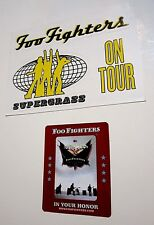 Foo Fighters ~ Lot 1997 On Tour Promo Sticker and 2005 In Your Honor Magnet