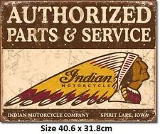 Indian Authorised Parts & Service  Tin Sign 1930 Official Licensed Sign.