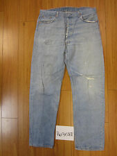 used Levis 501 destroyed feathered grunge USA jean tag 40x36 meas 35x32 16358F