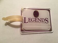 Vintage Rare Legends Golf Club Golf Bag Tag - Fort Myers, Florida - A Beauty!