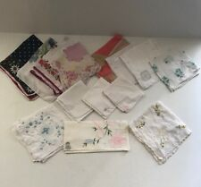 Lot 14 Vintage Ladies Hankies Floral Scalloped Handkerchiefs Desco, Kati