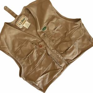 L L Bean Fishing Vest Photography Men's Medium M Tan Multi Pocket Beige