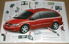 2001 Dodge Caravan 3-page advertisement, red minivan