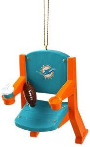 Miami Dolphins Christmas Tree Ornament Stadium Chair